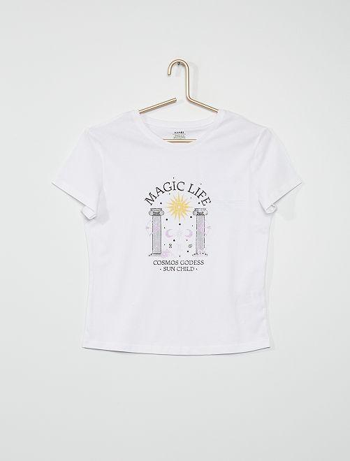 T-shirt 'magic life'                                                                                                                                                     blanc magic