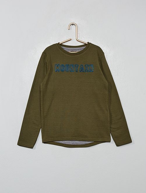 T-shirt maille épaisse                                                     vert