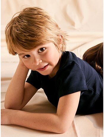 1852921583013 T-shirt manches courtes Vêtements garçon   bleu   Kiabi