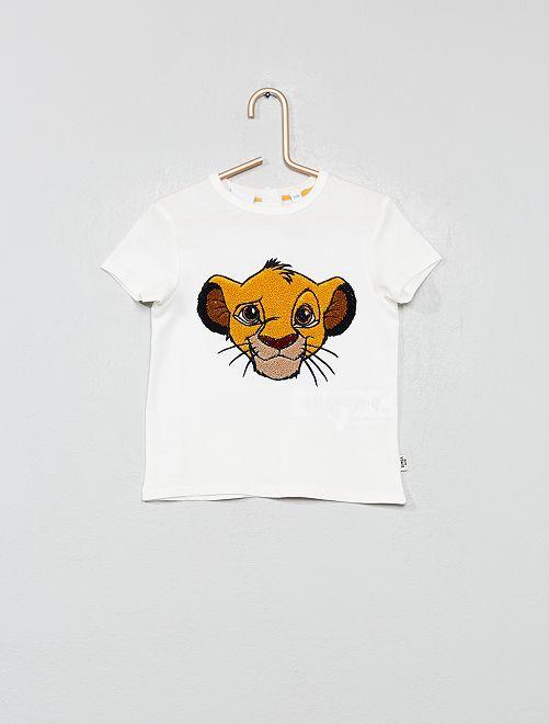 T-shirt maille fantaisie 'Simba'                                         écru
