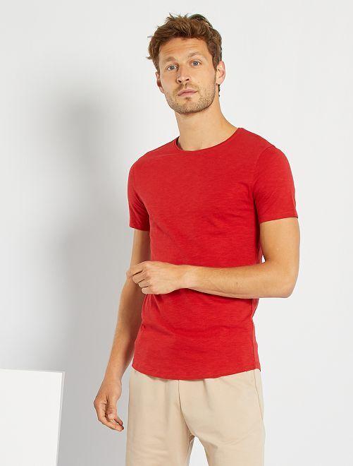 T-shirt maille flammée                                                                                                     rouge pompier
