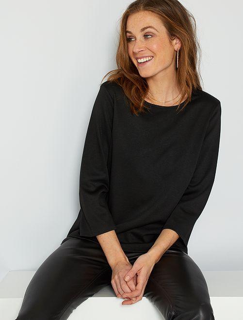 T-shirt maille milano                                                                 noir