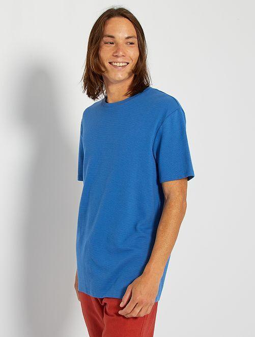 T-shirt maille texturée                                                                                                     bleu