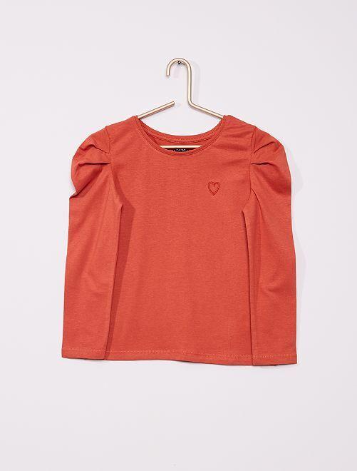 T-shirt manches ballon                                                                 terracotta