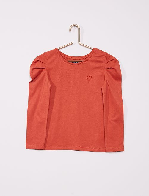 T-shirt manches ballon                                                                 terracotta
