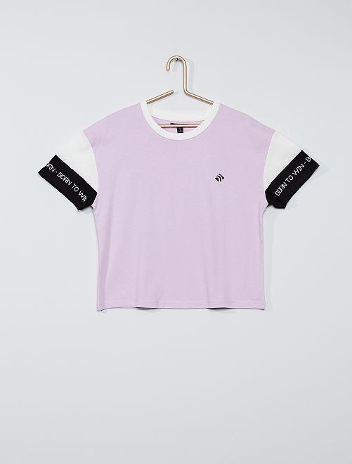 T-shirt manches courtes                                         violet