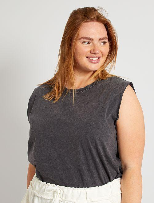 T-shirt manches larges                                                     gris foncé