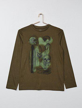 927388e6c14b5 Garçon 10-18 ans - T-shirt manches longues avec imprimé - Kiabi