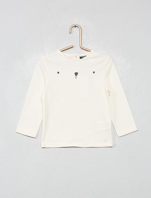 T-shirt manches longues                     blanc