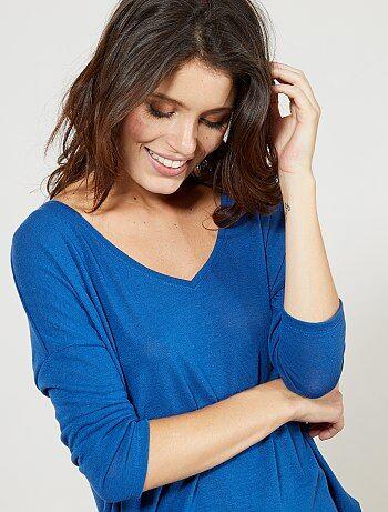 Femme du 34 au 48 - T-shirt manches longues - Kiabi