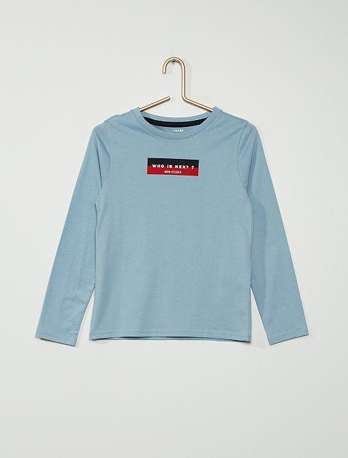 T-shirt manches longues                                         BLEU