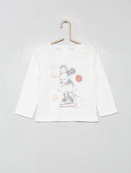 T-shirt manches longues 'Disney'                                         blanc