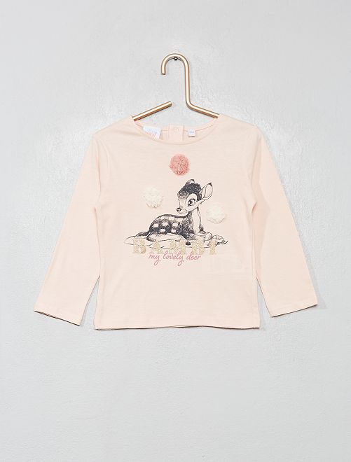 T-shirt manches longues 'Disney'                                         rose