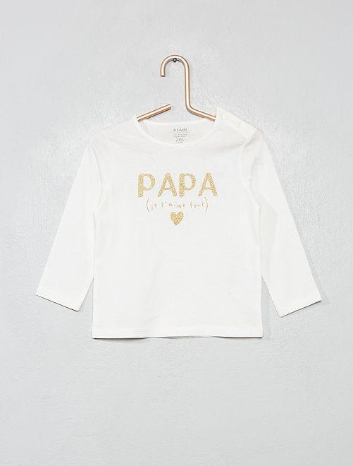 T-shirt manches longues 'éco-conception'                                                                                         blanc