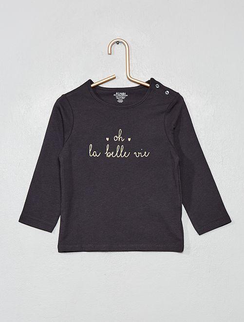 T-shirt manches longues 'éco-conception'                                                                                         gris foncé