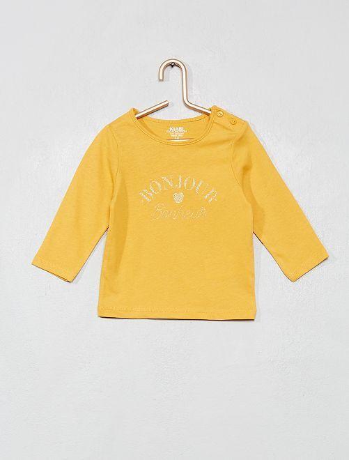 T-shirt manches longues 'éco-conception'                                                                                         jaune