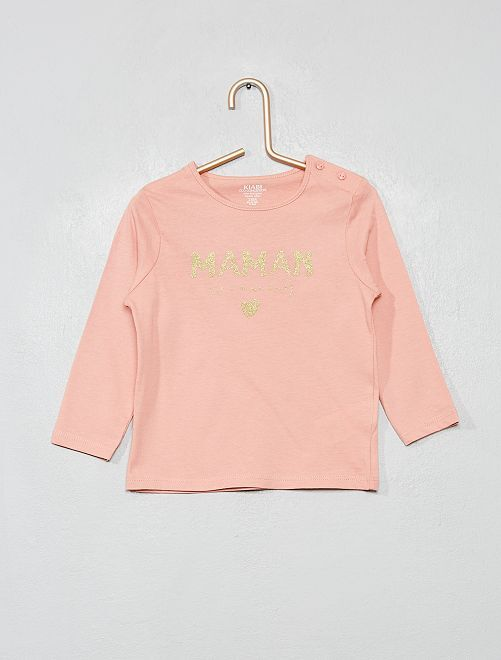 T-shirt manches longues 'éco-conception'                                                                                         rose