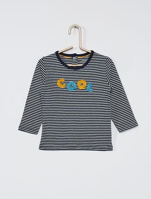 T-shirt manches longues éco-conçu                                                                 bleu