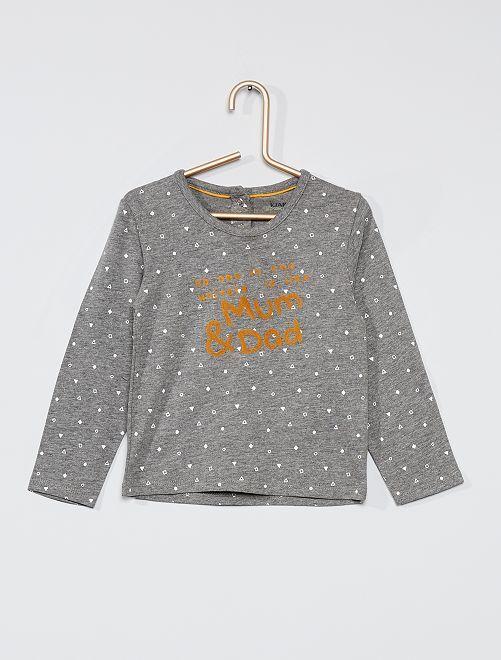 T-shirt manches longues éco-conçu                                                     gris