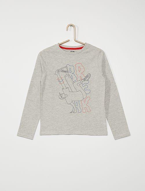 T-shirt manches longues éco-conçu                                                                             gris/danse