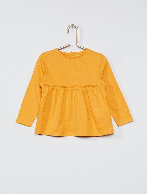T-shirt manches longues éco-conçu                                                                             jaune