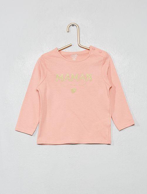 T-shirt manches longues 'éco-conçu'                                                                     rose