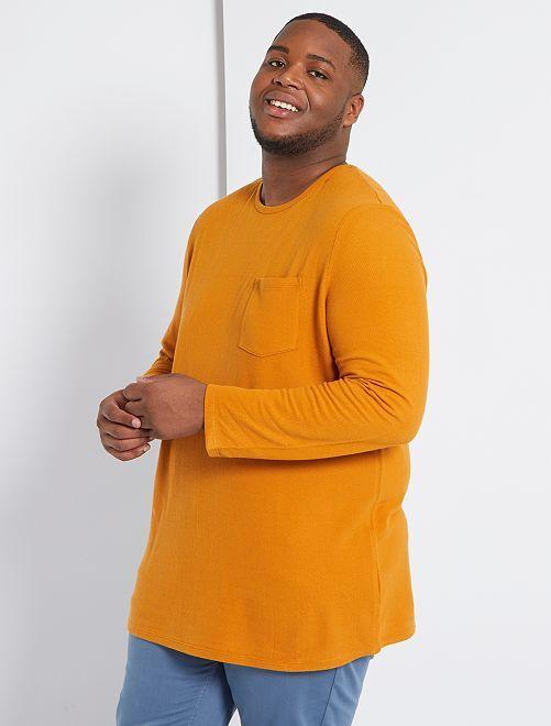 T-shirt manches longues éco-conçu                             rouille
