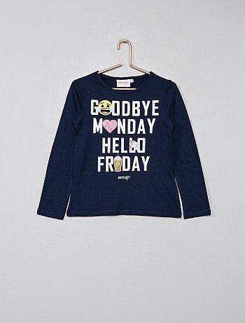 T shirt manches longues `Emoji`