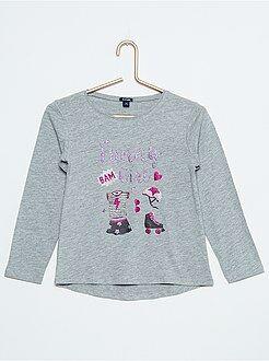 Fille 4-12 ans T-shirt manches longues imprimé