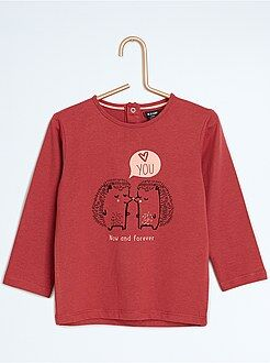 Fille 0-36 mois T-shirt manches longues imprimé fantaisie