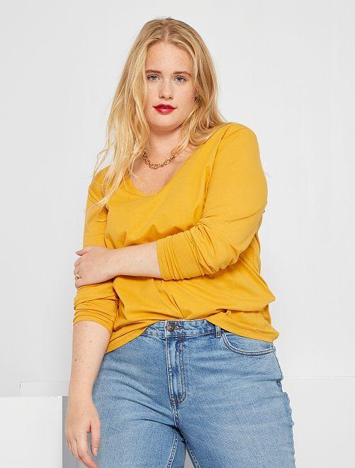 T-shirt manches longues                                                                                                     jaune