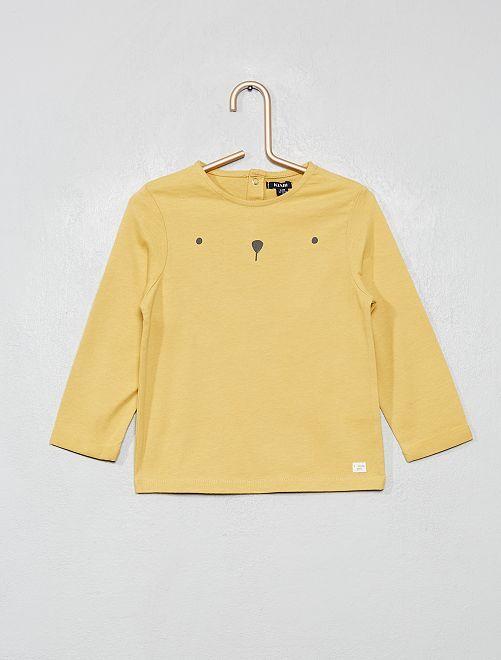T-shirt manches longues                                         jaune pâle