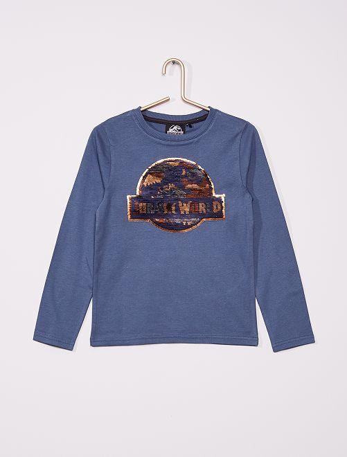 T-shirt manches longues 'Jurassic World'                             bleu