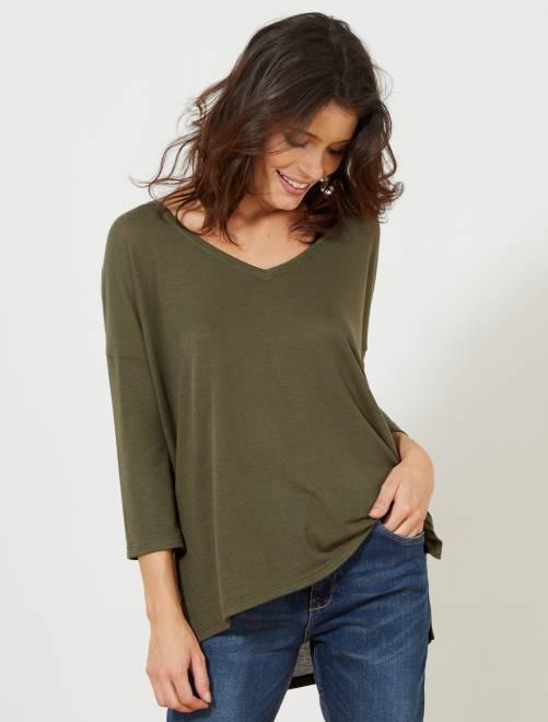 T-shirt manches longues                                                     KAKI Femme