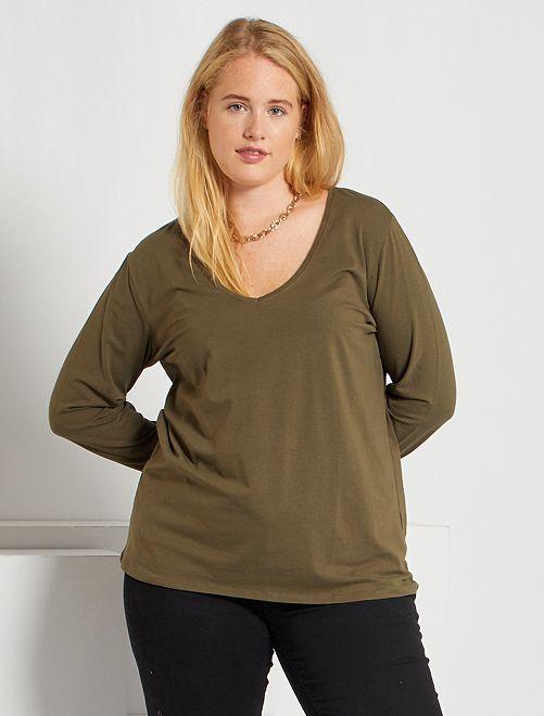 T-shirt manches longues                                                                                                     kaki