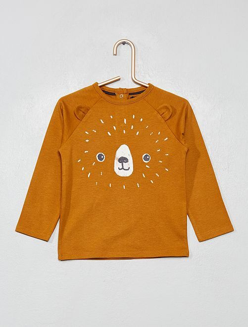 T-shirt manches longues                                                                 marron
