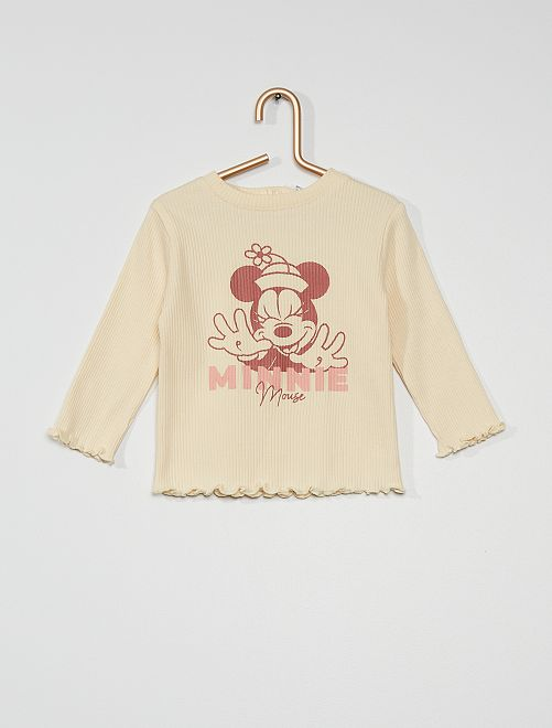 T-shirt manches longues 'Minnie' de 'Disney'                             blanc