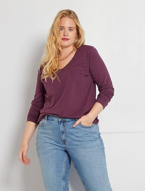T-shirt manches longues                                                                                                     prune