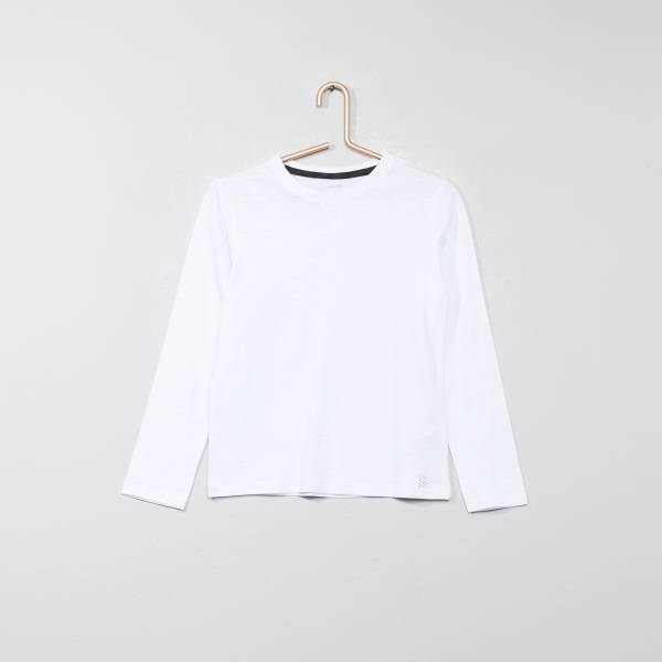 T shirt manches longues pur coton