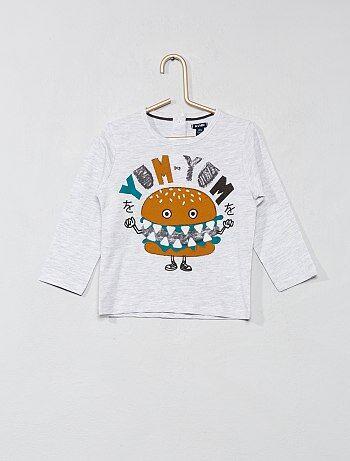 Garçon 0-36 mois - T-shirt manches longues pur coton - Kiabi