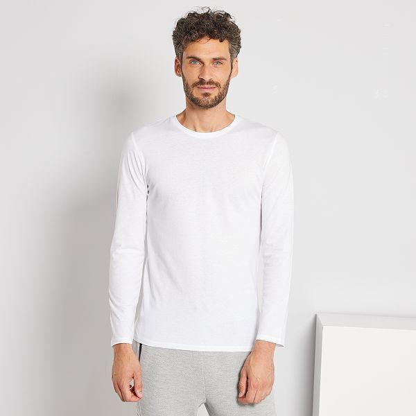 T shirt manches longues uni