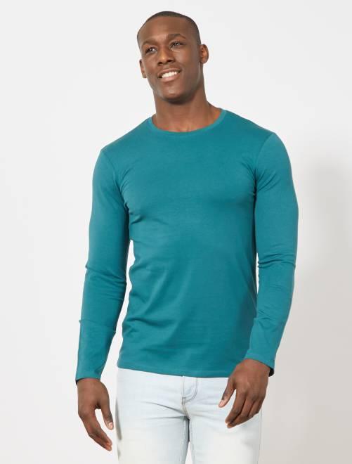 69af1f44173ef T-shirt manches longues uni Homme - Kiabi - 4,80€