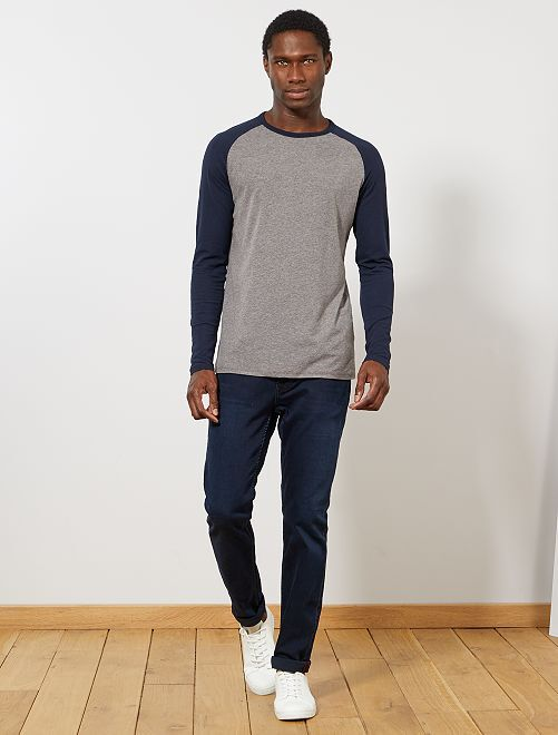 T-shirt manches raglan 'éco-conception'                                                     bleu/gris