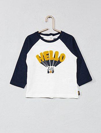 Garçon 0-36 mois - T-shirt manches raglans - Kiabi
