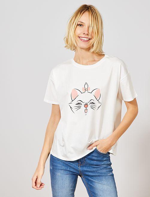 T-shirt 'Marie'                                                     blanc Marie