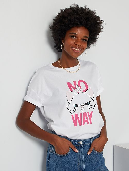 T-shirt 'Marie' des 'Aristochats'                                                                                                                             blanc Marie