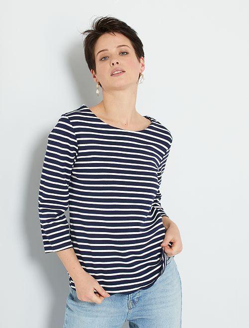 T-shirt marinière                                         bleu