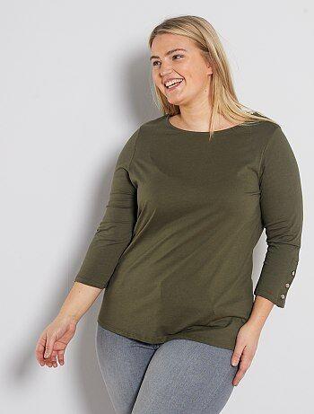 T shirt manches longues Vêtements femme   taille 5456   Kiabi