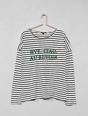 ed8c7f6e8f690 Fille 10-18 ans - T-shirt marinière - Kiabi