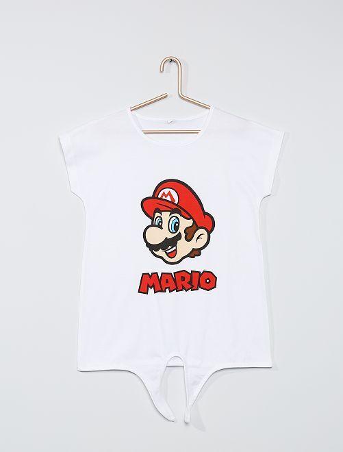 T-shirt 'Mario'                             blanc